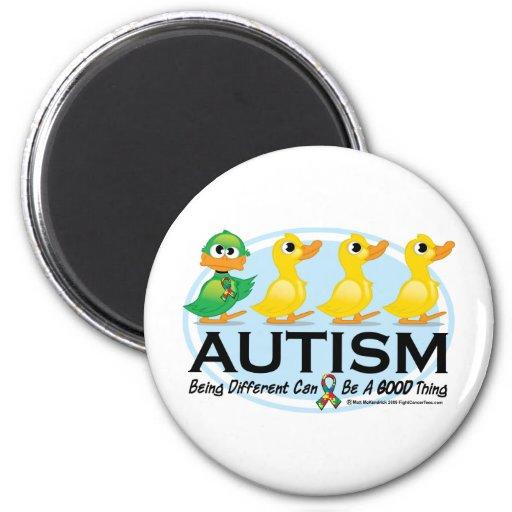 Patito feo del autismo imanes para frigoríficos