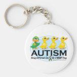 Patito feo del autismo llavero
