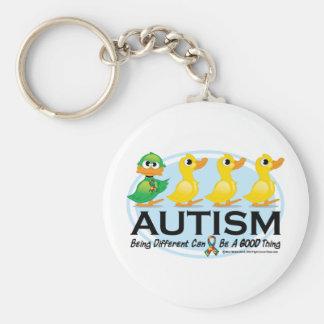 Patito feo del autismo llavero redondo tipo pin