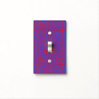 Patmos Blue and Red Light Switch Cover