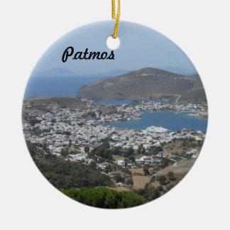 Patmos, Greece Christmas Tree Ornament