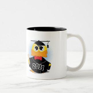 Pato 2011 de la graduación taza de café de dos colores