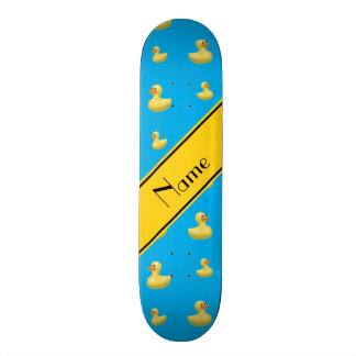 Pato amarillo conocido de encargo del caucho del skate boards