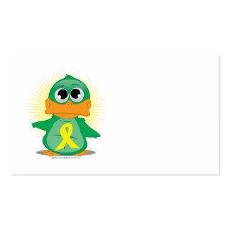 Pato amarillo de la cinta tarjetas de visita