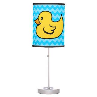 Pato amarillo de las ondas de la aguamarina lámpara de escritorio