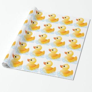 Pato amarillo grande papel de regalo