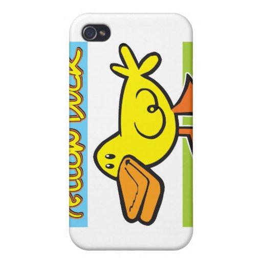 Pato amarillo iPhone 4 carcasa