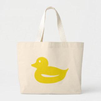 pato amarillo lindo del anadón bolsa