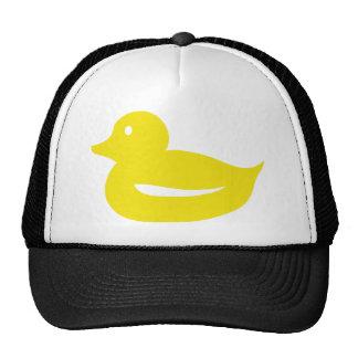 pato amarillo lindo del anadón gorra