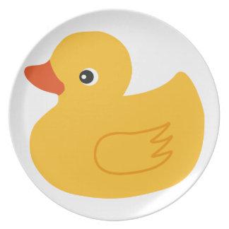 Pato amarillo platos