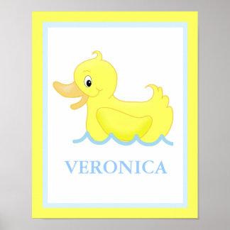 Pato amarillo poca impresión personalizada Ducky d