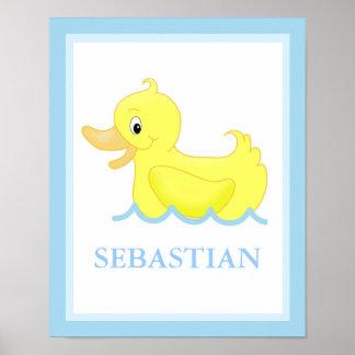 Pato amarillo poca impresión personalizada Ducky d Póster