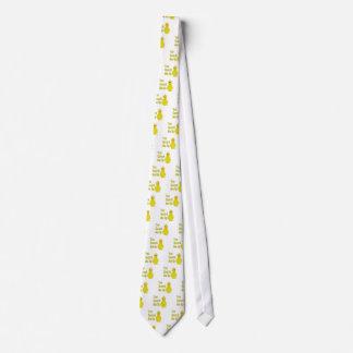 Pato amarillo torpe usted curandero yo para arriba corbatas personalizadas