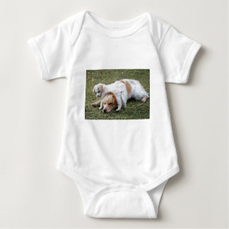 "Pato and Precious Poodle Pup ""Patience"" Baby Bodysuit"
