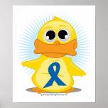 Pato azul de la cinta de la conciencia poster