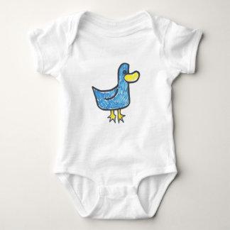 Pato azul que es Quacktastic Body Para Bebé