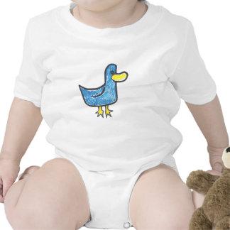 Pato azul que es Quacktastic Trajes De Bebé
