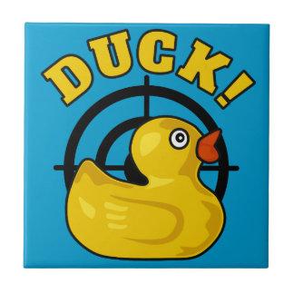 ¡Pato! Azulejo Cuadrado Pequeño