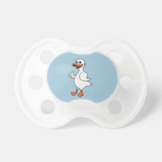 Pato blanco chupetes para bebes