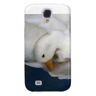 Pato blanco de Pekin con la cabeza remetida bajo i Carcasa Para Galaxy S4