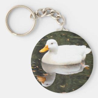 Pato blanco Keyschains Llavero