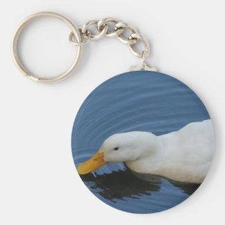 Pato blanco llaveros personalizados