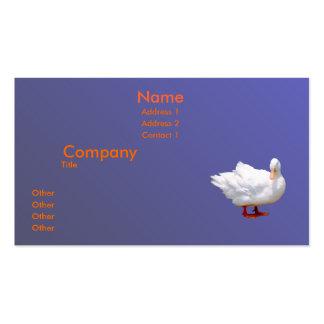 Pato blanco plantillas de tarjetas de visita