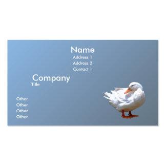 Pato blanco tarjetas de visita