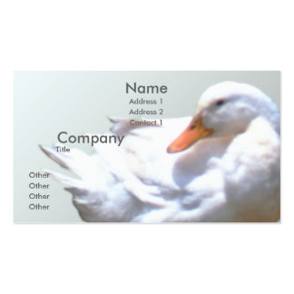 Pato blanco tarjeta de visita