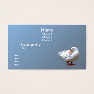 Pato blanco tarjeta de negocios