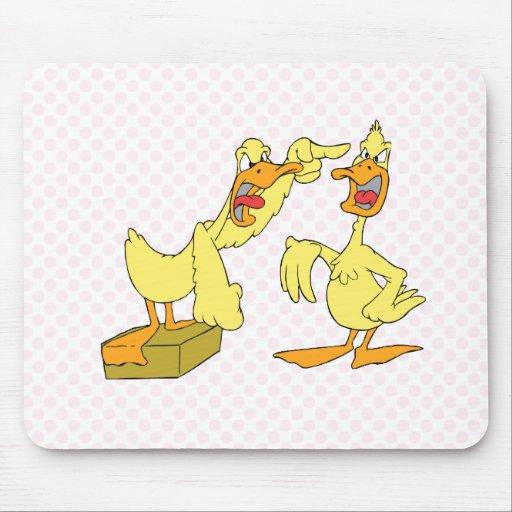 Pato cavada y del Dag Alfombrillas De Ratón