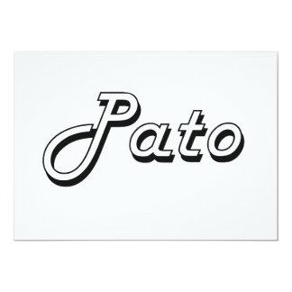Pato Classic Retro Design 5x7 Paper Invitation Card