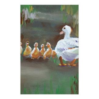Pato con los anadones papeleria de diseño