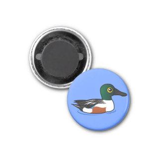 Pato cuchara septentrional de Birdorable Imán Redondo 3 Cm