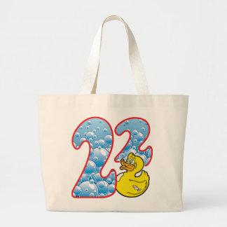 Pato de 22 edades bolsa tela grande