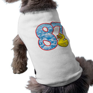 Pato de 87 edades playera sin mangas para perro