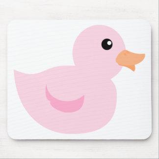 Pato de Bedotted en rosa Alfombrilla De Ratones