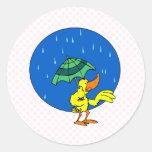 Pato de Dundle Etiqueta Redonda