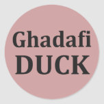PATO de Ghadafi Etiquetas Redondas