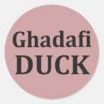 PATO de Ghadafi Pegatina Redonda