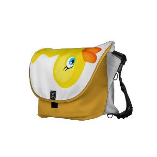 Pato de goma amarillo bolsa messenger