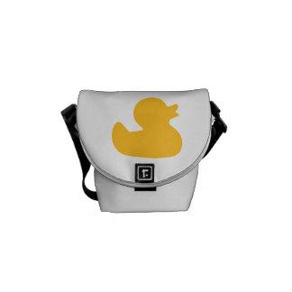 Pato de goma amarillo bolsa de mensajeria