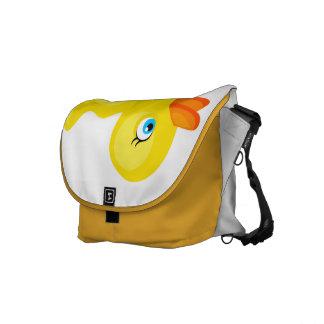 Pato de goma amarillo bolsas de mensajería