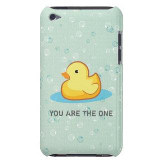 Pato de goma amarillo con el caso del tacto de iPo iPod Case-Mate Cárcasas
