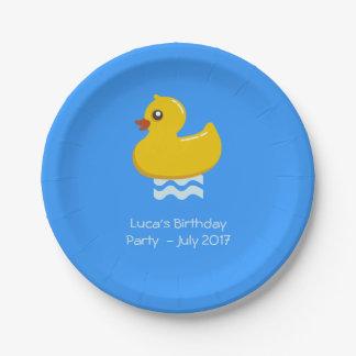 pato de goma amarillo - fiesta de cumpleaños platos de papel