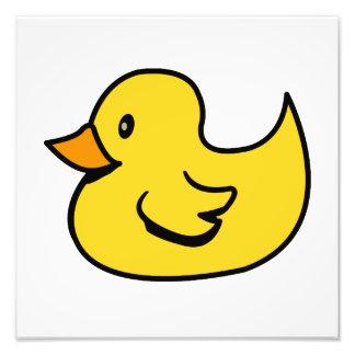 Pato de goma amarillo fotografía