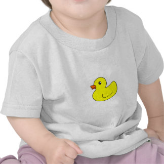Pato de goma amarillo camisetas