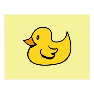 Pato de goma amarillo postal