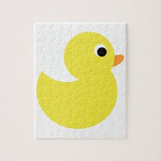 Pato de goma amarillo puzzle con fotos