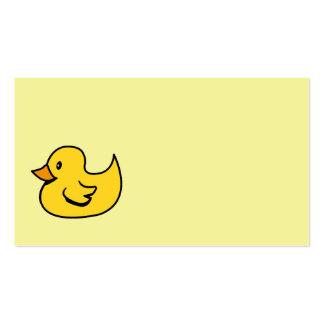 Pato de goma amarillo tarjetas personales